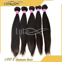 Promotion !!! the best alibaba express soft straight virgin thick 100% sleek long weave brazilian 5a grade human hair extension