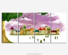 4 Panels High Definition Giclee Canvas Art Print Landscape Painting
