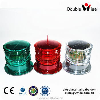 Protection IP67 LED Marine Solar Barge/Port Navigation Warning/Signal Light