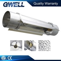 "8"" aluminum wing light cooltube reflector/8"" cool tube glass hood/8"" cool tube grow light reflector"
