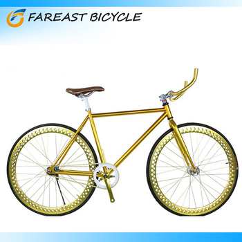 2015 New Single Speed Fixie Bike Golden Fixed Gear Bicycle Road Racing
