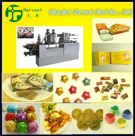 Candy chocolate Top-twist folded single and double twist spherical packing machine