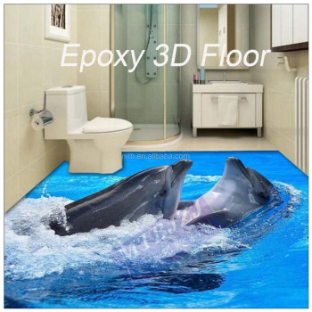 Waterproof Anti-slip Epoxy 3D Floor for Home Floor Decoration
