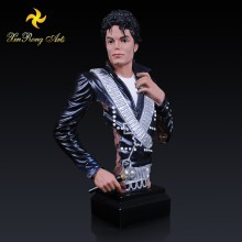 Resin crafts famous singer resin ornament Michael Jackson resin bust figurine