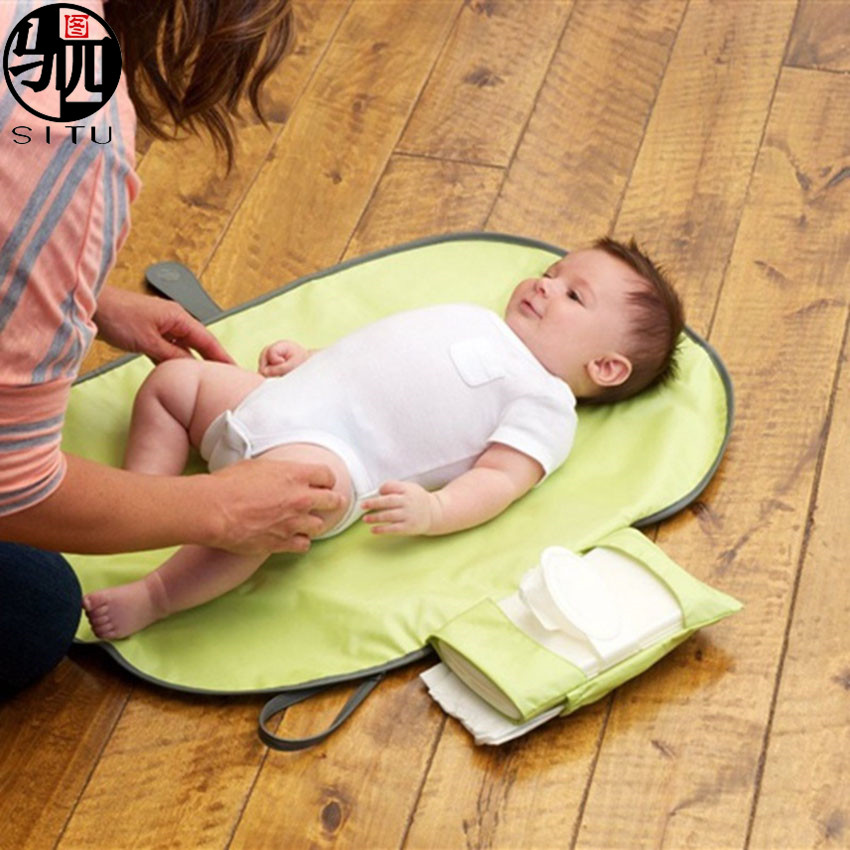 Portable Waterproof Baby Diaper Changing Pad Kit Travel Home Change Mat Organizer Bag