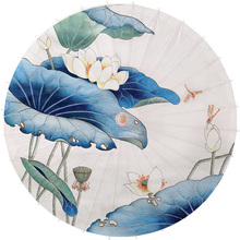 Chinese traditional personalized decoration printed craft colored bamboo oil paper umbrella