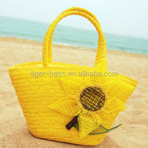 Hot Sale Lady Summer Promotional Straw Beach Bag