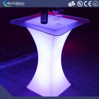 style romantic stylish led bar coffee round cocktail table