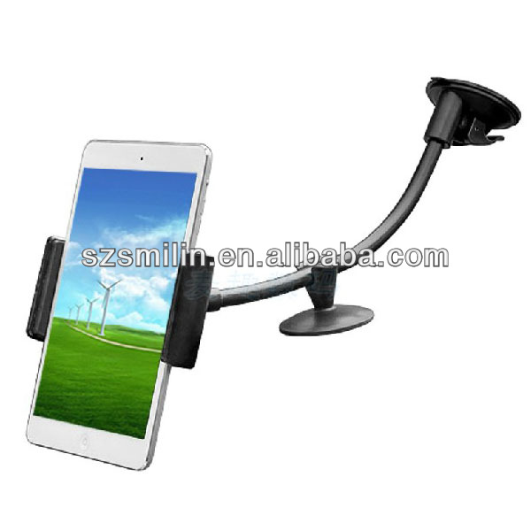 Popular 360 degree rotating Car Suction Mount Holder for iPad 2/3/4 and smartphone