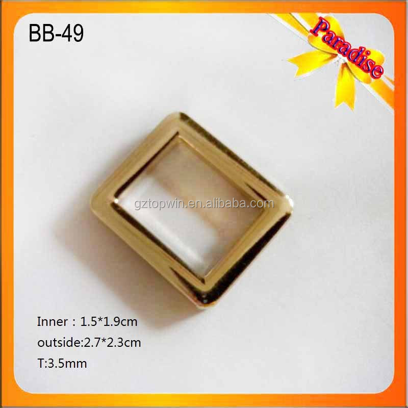 BB-49 Custom gold belt buckles/square buckle/decorative buckles casting with logo