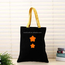 Black shopping bag cotton,OEM cheap tote bag cotton canvas,Colorful cotton shoulder bag