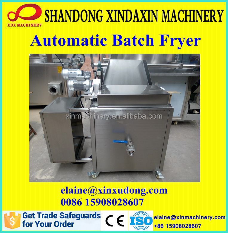 2015 small stainless automatic batch fryer