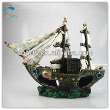 Fish tank aquarium Resin craft sailing ships decoration CA7348