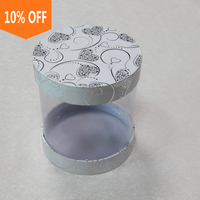 Custom design clear plastic round packaging box