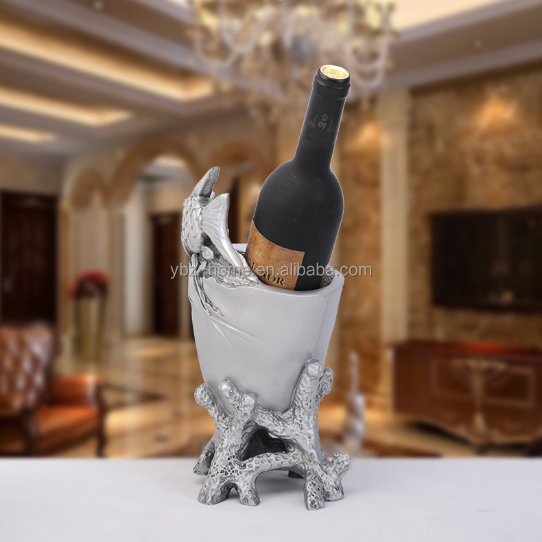 Swan Shaped Wine Rack For Display Eco-friendly Swan Single Bottle Wine Rack