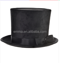 High quality party hat new design victorian black top hat HT12512