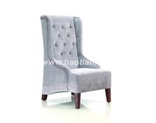High back Leather/fabric Sofa Home and Hotel italian furniture
