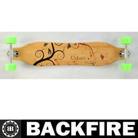 Backfire Top mount skateboard longboard V_Lam bamboo Fiberglass epoxy composite deck Professional Leading Manufacturer