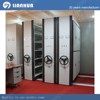 best selling metal steel mobile filing storage cabinets/ steel movable mass shelves/movable shelving system