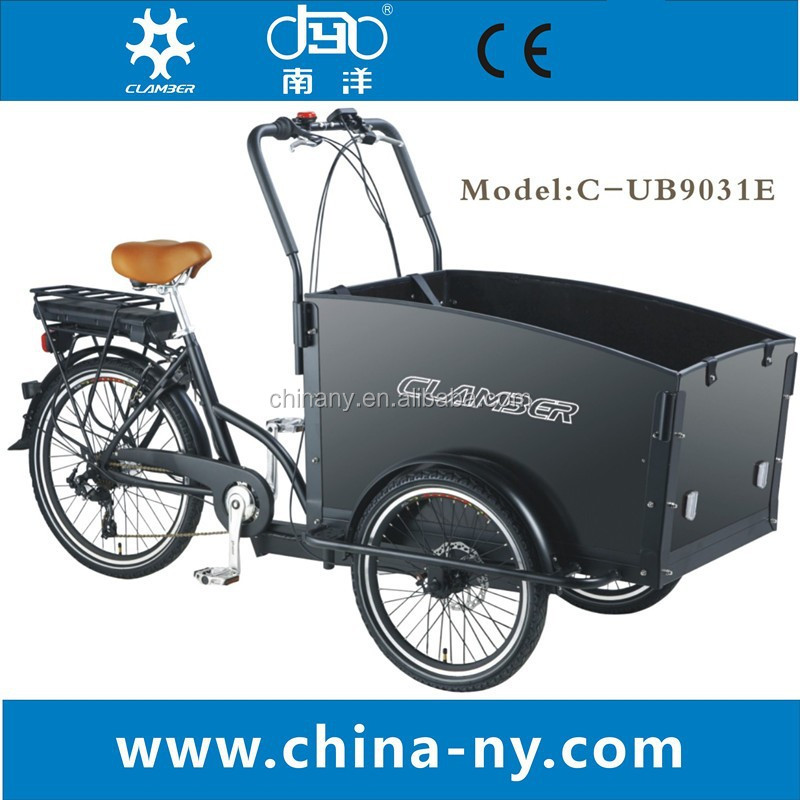 2015 adult electric tricycle/electric 3 wheel bike cargo /Box cargo bike for baby