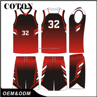 COTON Boys Custom Brand Sublimation Basketball Uniforms