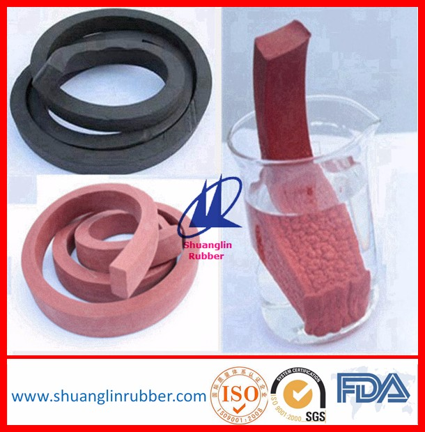 Concrete hydrophilic rubber (chloroprene rubber) swellable waterstop