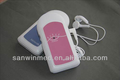 CE and FDA approved pocket handheld angelsounds doppler foetal for pregnancy ( Baby Sound A)