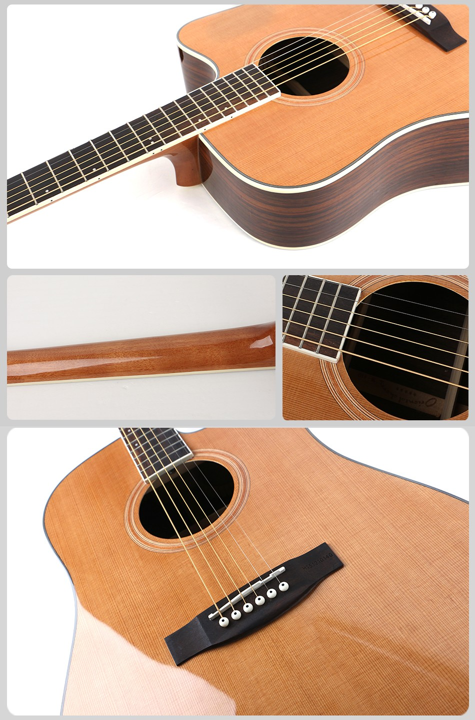 musical instruments 41 inch rosewood handmade acoustic guitar