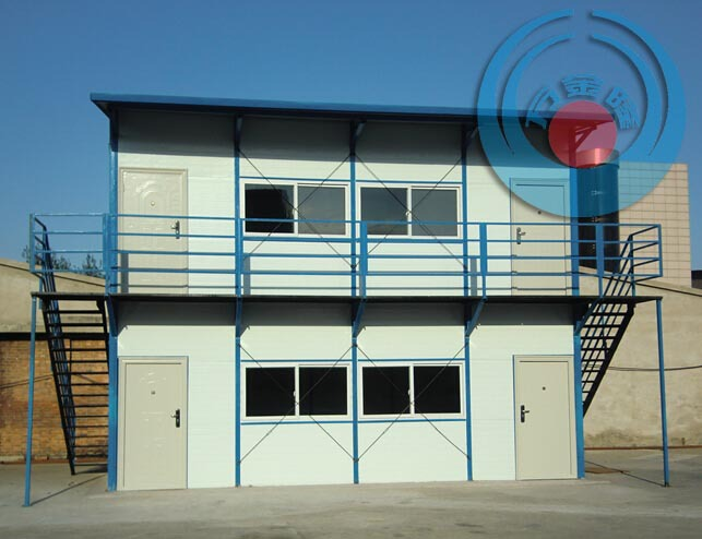Chinese steel structure building modern duplex low cost prefab house