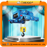 Light duty under hung bridge cranes with wire rope hoist