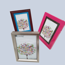 Stylish multi color small plastic craft picture frame for picture