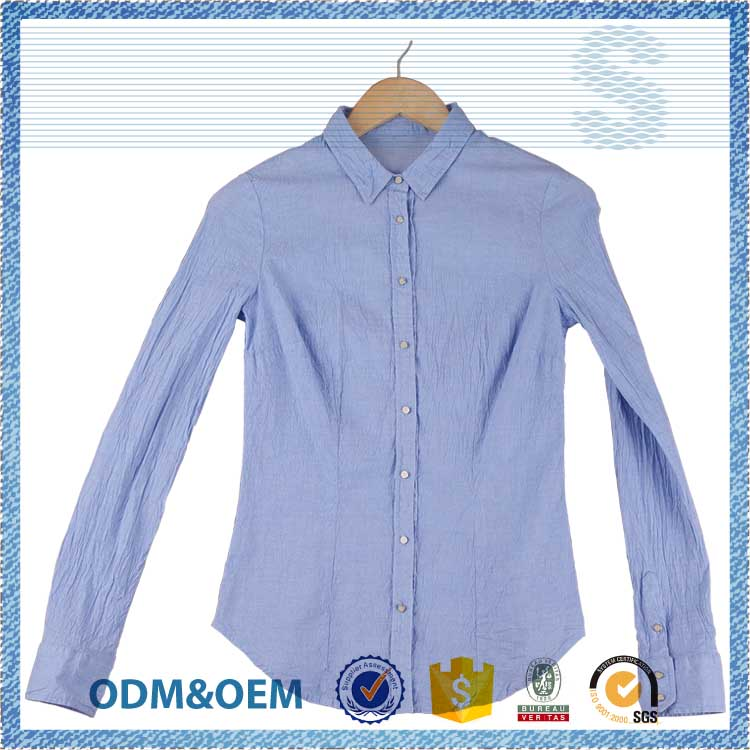 prompt reply street wear fashion cutting blouse