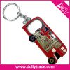 london bus design tourist souvenir metal keychain