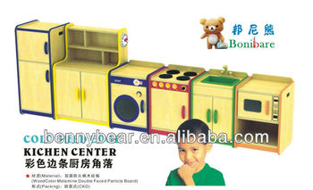 Hot Children Educational Wooden Toy Kitchen Role Play Set