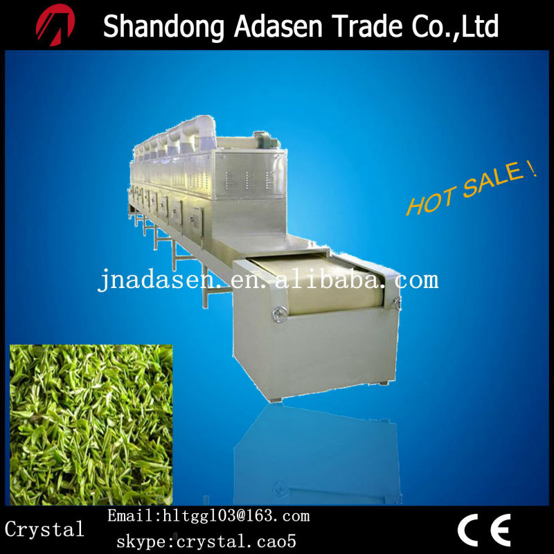 tunnel type microwave green tea leafs heating equipment/tea factory equipment