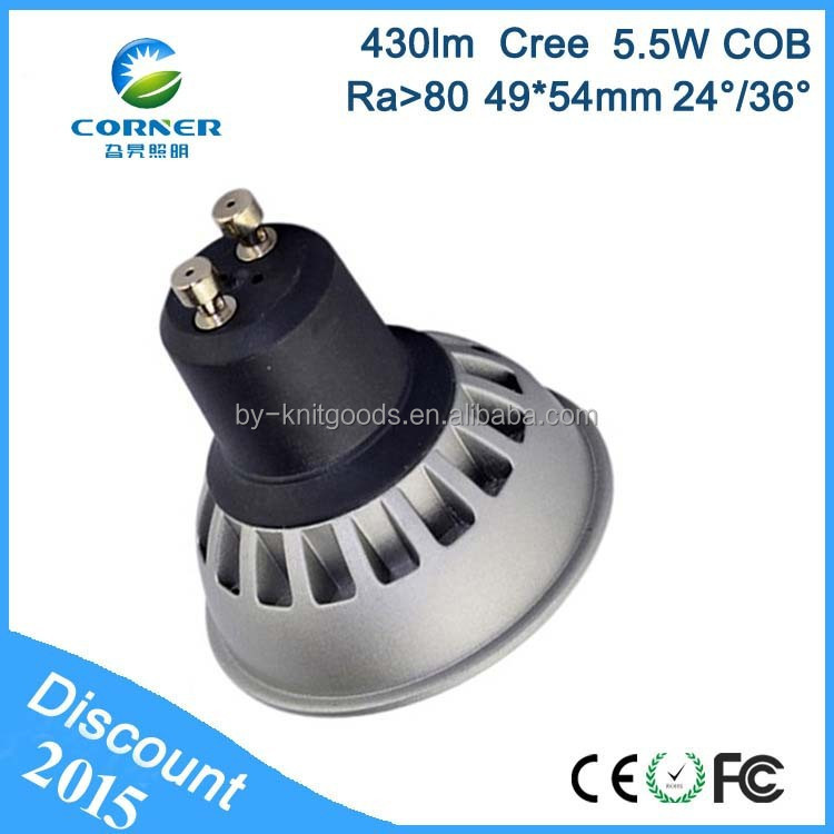 CHINA factory price 5.5w 85-265v gu10 led bulb led gu10 dimmable