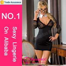 Sunspice sexy lingerie manufacturer 15 years Experience TOP quality sexy business woman costume