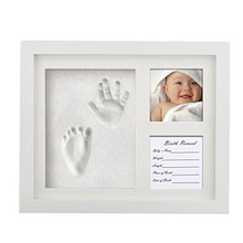 2018 Baby 12 Month Photo Frame New Born Baby Gift Baby Foot Print Photo Frame
