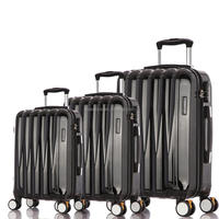 Black Color Streamline FULL POLYCARBONATE TRAVEL LUGGAGE