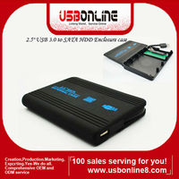"High quality Super speed 2.5"" inch HDD Enclosure case USB 3.0 to SATA Hard Disk Drive case"