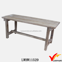 KD French Country Distressed Wood Monastery Table