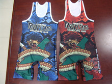 Team sublimated custom wrestling singlet