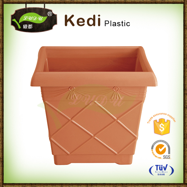 Ludu 10% discount environmental protection good quality plastic clear plastic flower pots