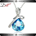 Beautiful blue crystal necklace