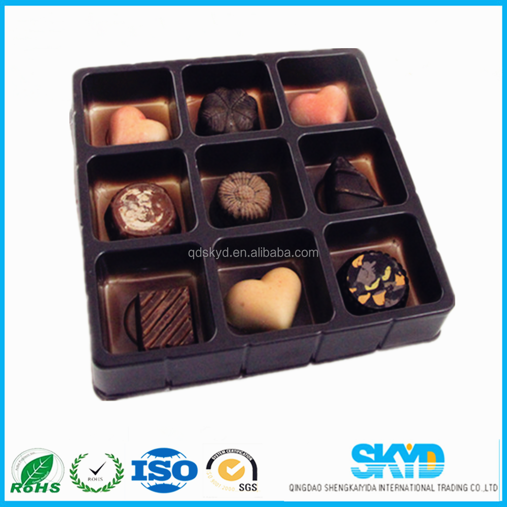 blister packaging for chocolate, plastic Chocolate insert tray
