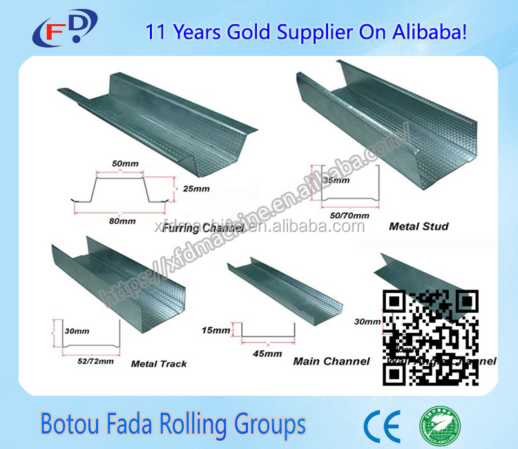 Drywall fastening steel truss cd ud profiles double production machine