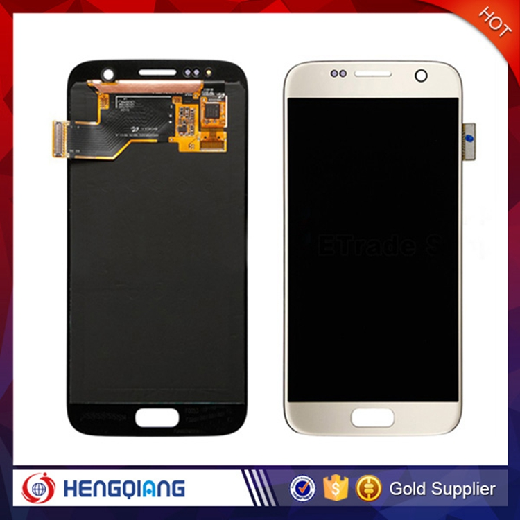 Gold New LCD Screen Touch Digitizer Assembly For Samsung Galaxy S7 G930T