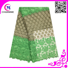 High quality african cord lace fabric/100% polyester guipure lace for grament