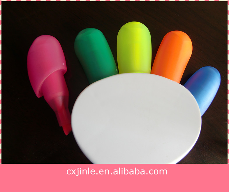 Cute mini scented fluorescent marker stationery highlighter pen set for promotional