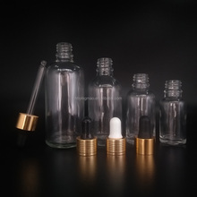 18mm Long Neck 5ml 10ml 15ml 20ml 30ml 50ml 100ml Transparent Clear Glass Bottle with Aluminium Cap